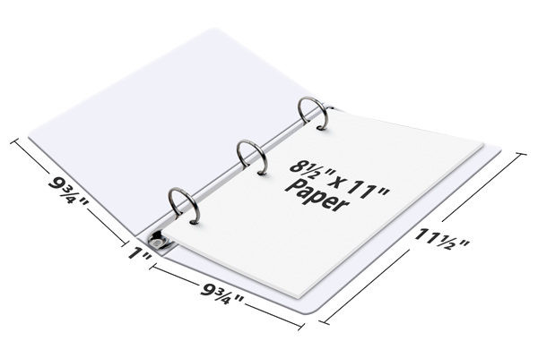 binder size vs paper size