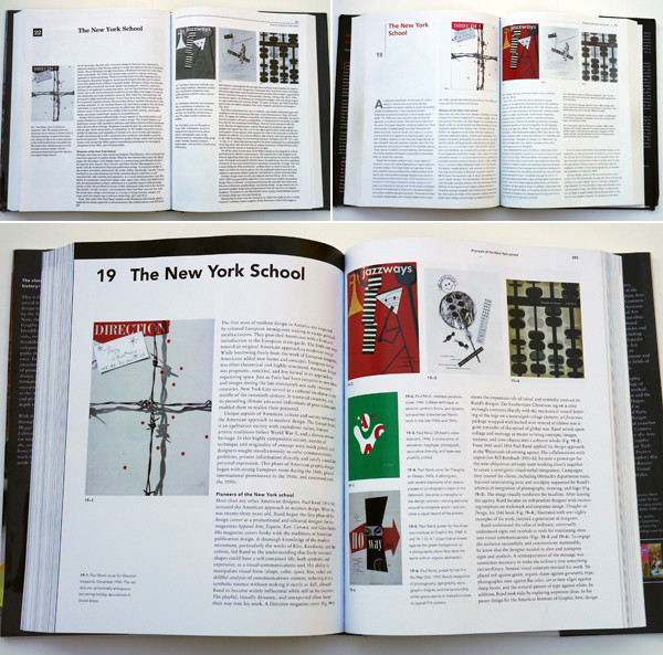 Meggs' History of Graphic Design's second, fourth, and fifth editions.
