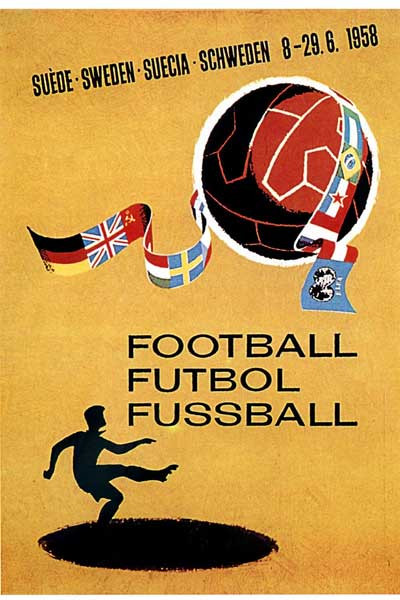 1958 World Cup Poster.
