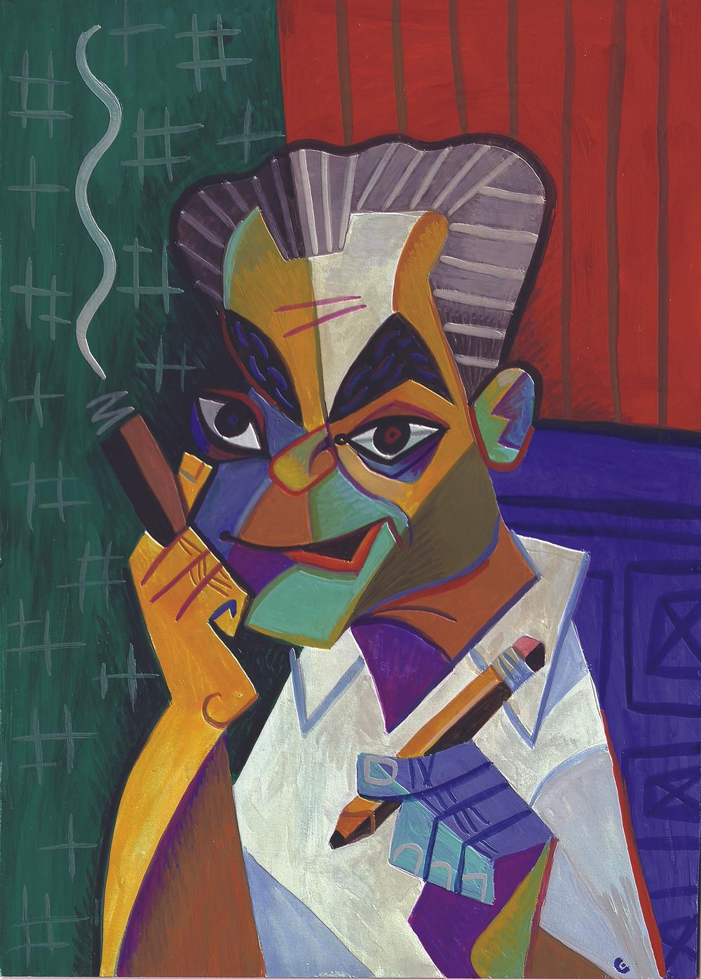 Jack Kirby portrait by David Cowles