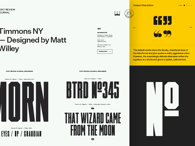 Font Review Journal, the latest project from Bethany Heck