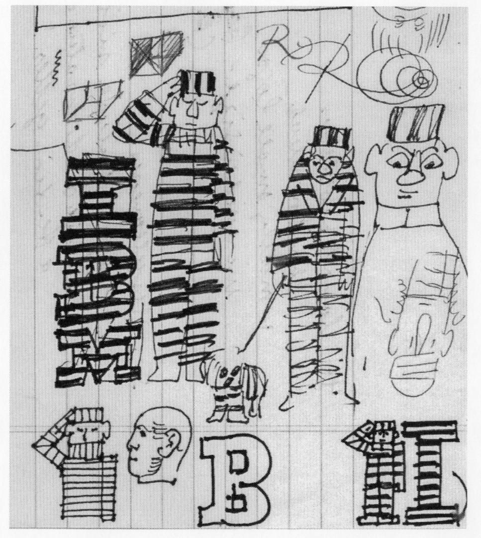 IBM lines and convict stripes.