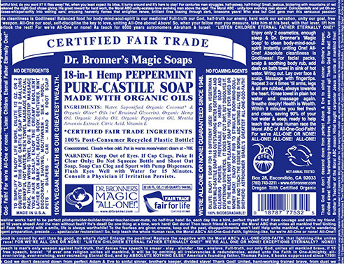 Dr. Bronner's soap products