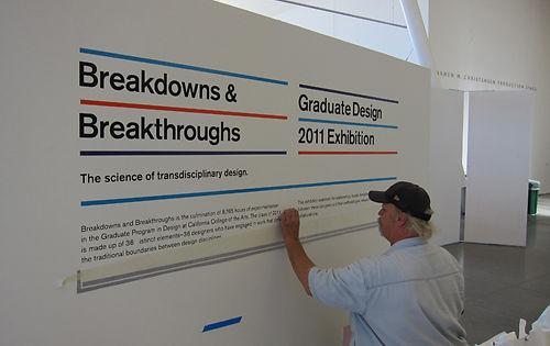 California College of the Arts Design MFA show