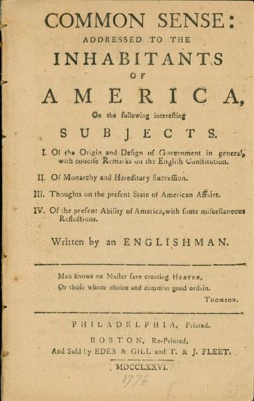 Second edition of Common Sense