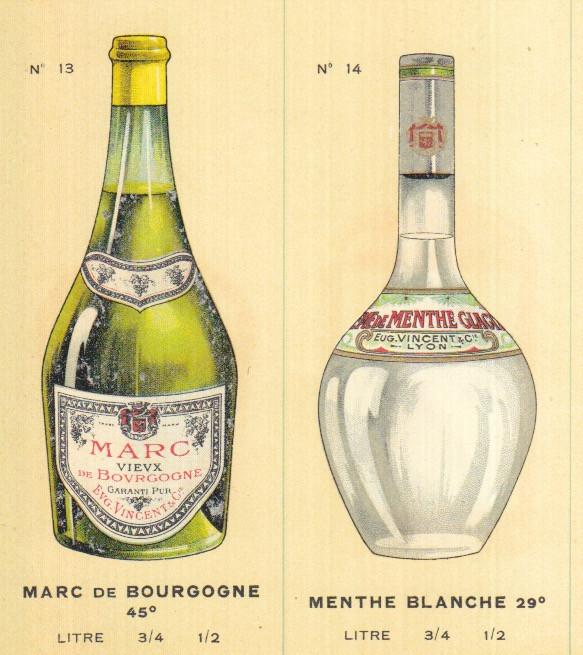 bottle design menthe blanche