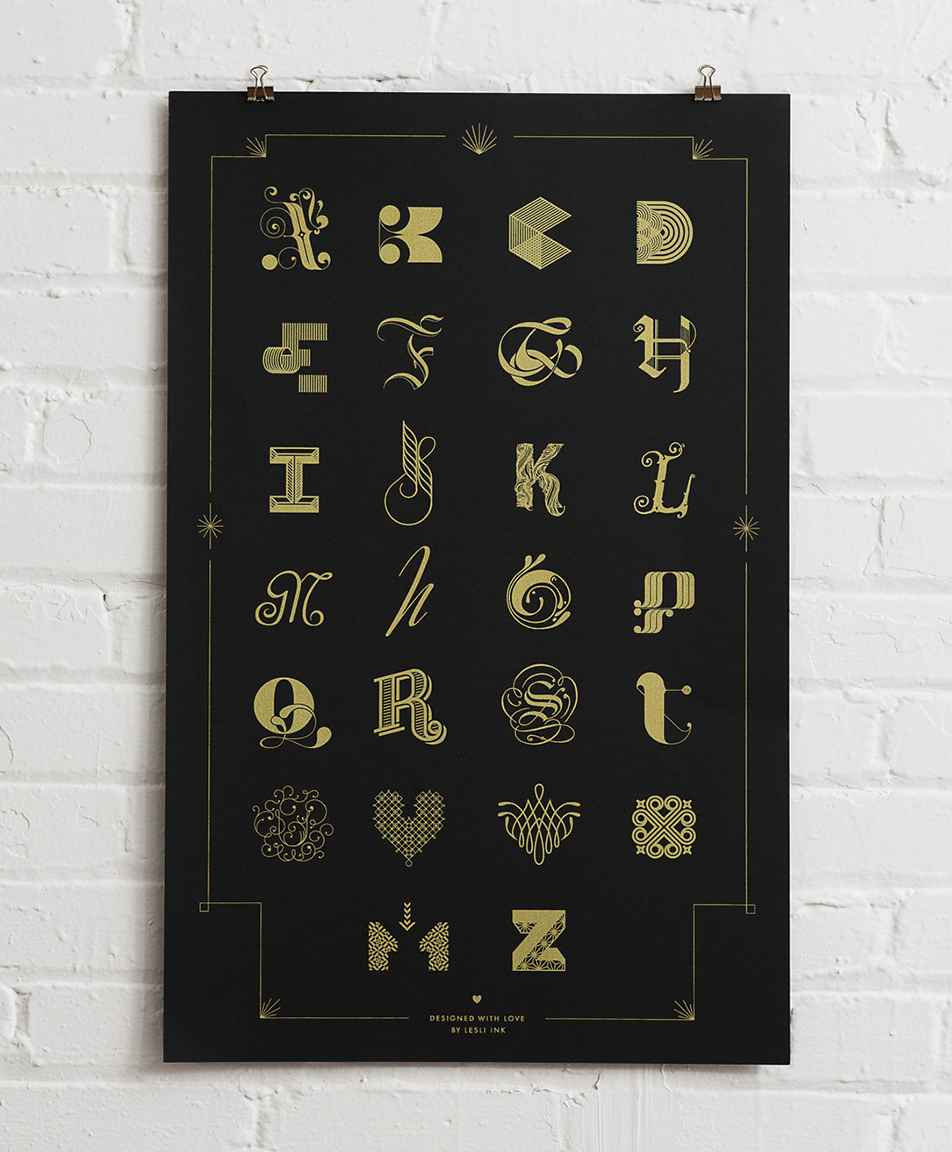 Cast of Characters — A Typographic Poster Design