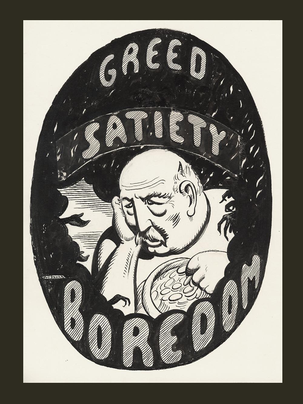 Greed satiety boredom
