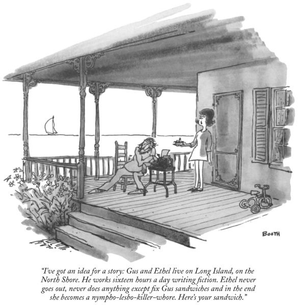 In the New Yorker, George Booth cartoons were a mainstay.