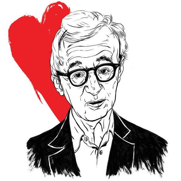 Woody Allen illustration for Wired (art director: Tim Gruneisen), 2011