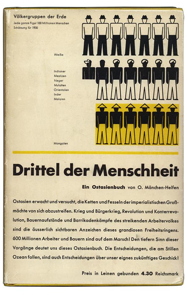 Otto Mänchen-Helfen. Drittel der Menschheit. Berlin: Der Bücherkreis, 1932. Cover by Jan Tschichold.