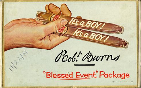 """It's a boy"" cigars"