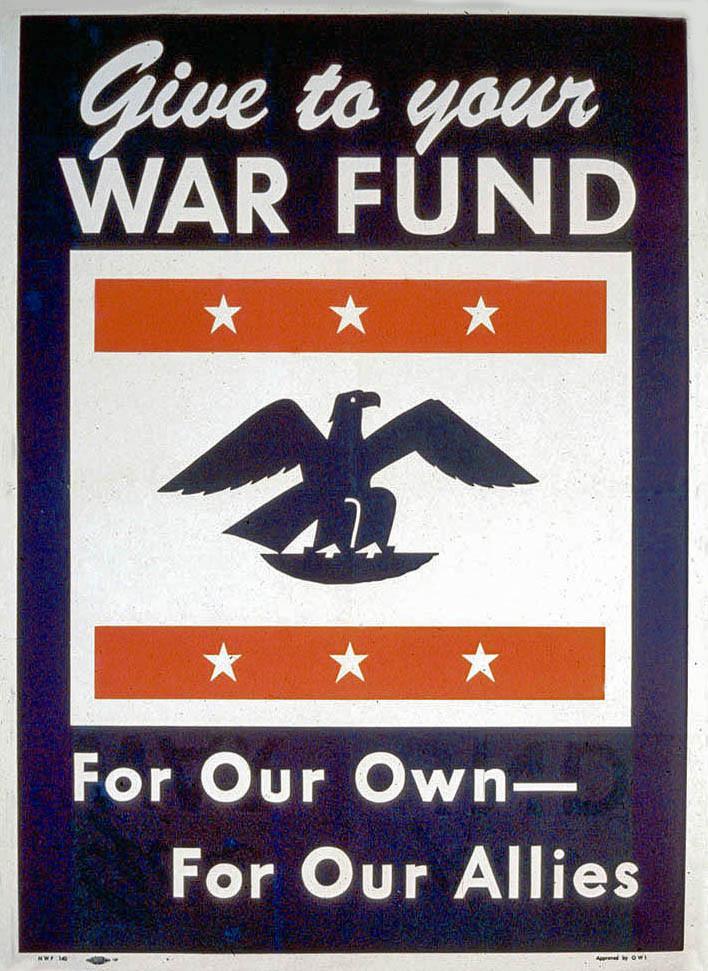 War Fund poster