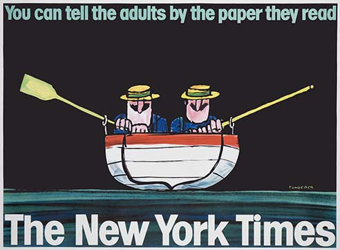 New York Times subway poster