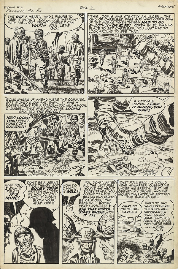 Foxhole #2, 1954. Jack Kirby: pencils and inks.