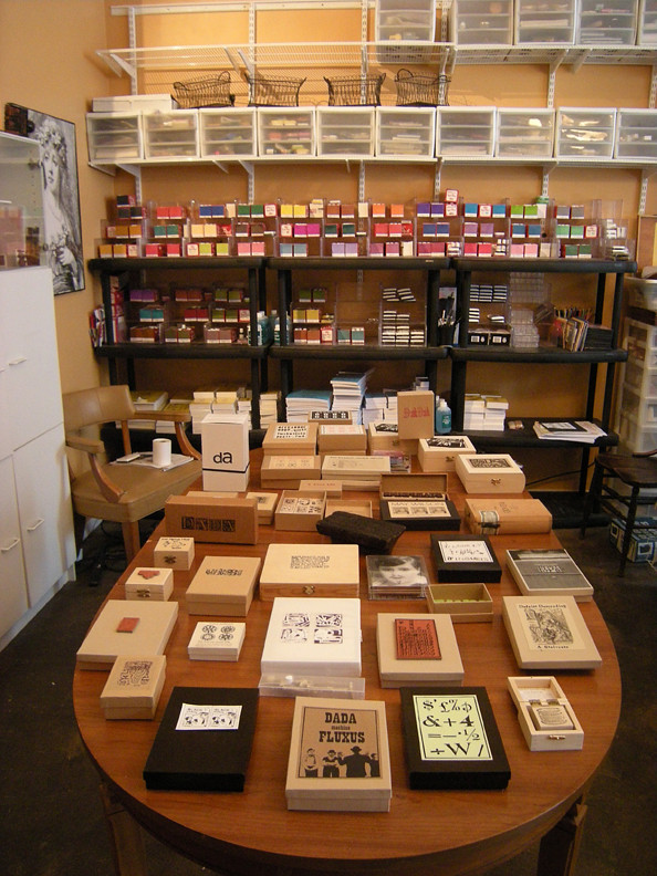 collection of rubber stamps
