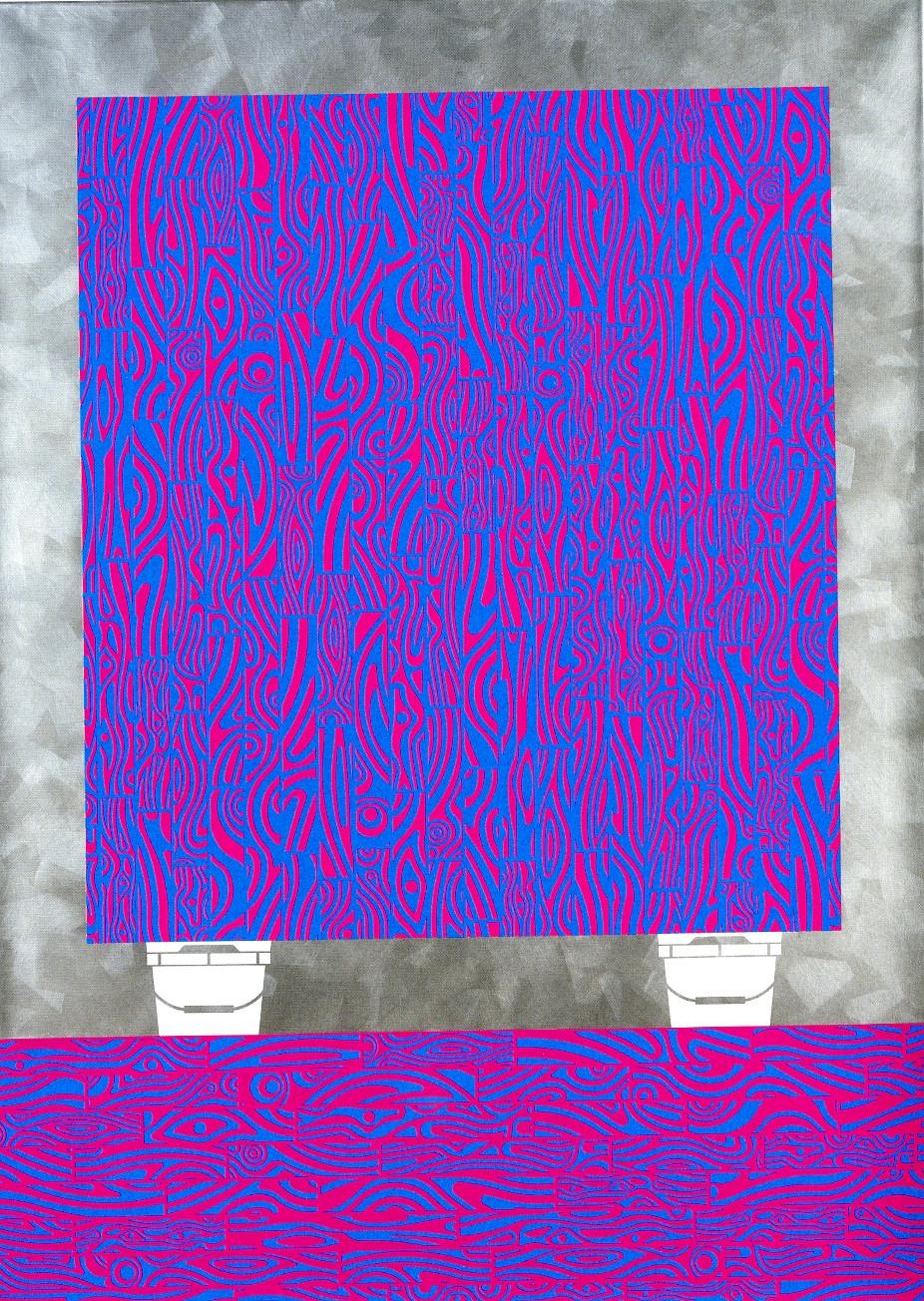 Studio Floor, 2017, acrylic on linen, 84w x 60 in.