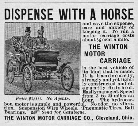 The first Automobile ad