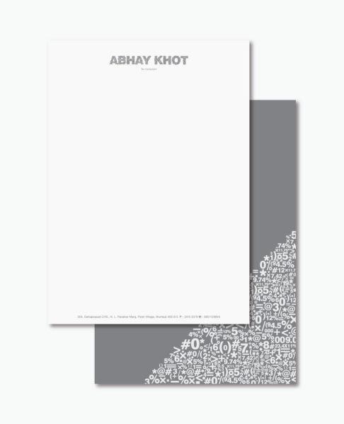 Letterhead examples: Abhay Khot