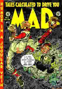 MAD when it was still a comic book.