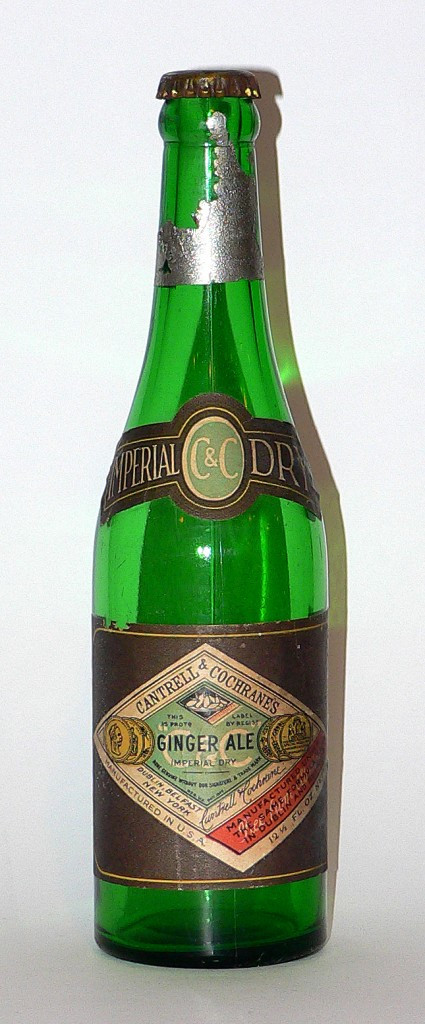 1920s Cantrell & Cochrane's (C&C) ginger ale bottle.