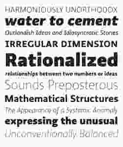 Ratio_specs_628; typography inspiration
