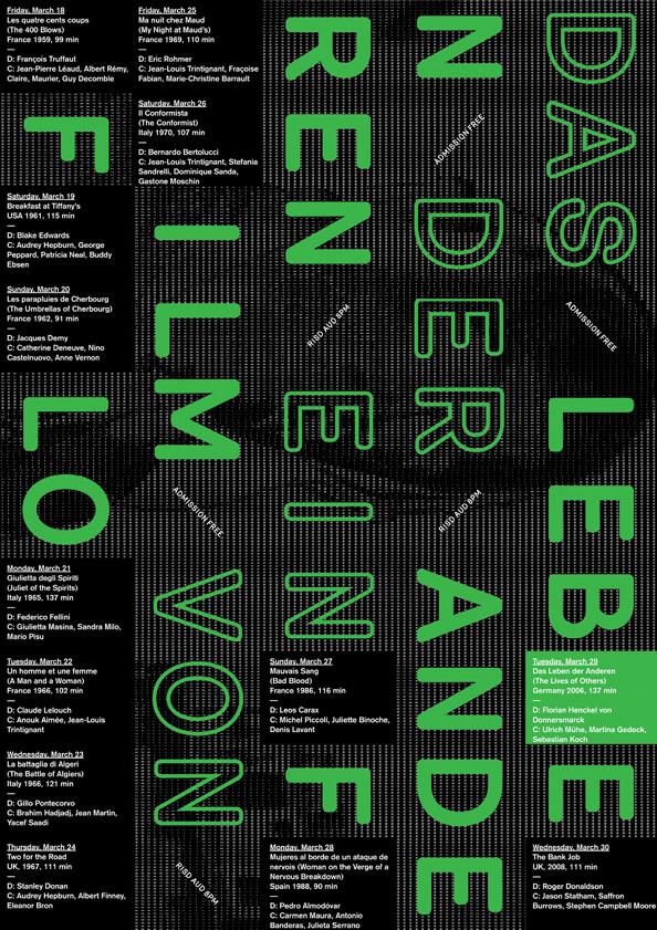 Spring film festival, color inkjet print, 2011