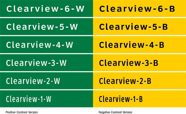 Clearview Type Chart