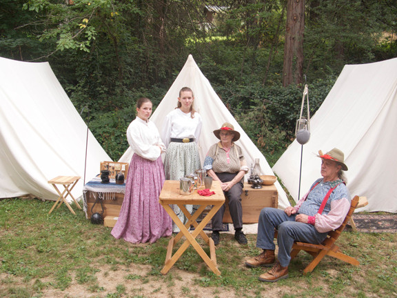 Civil War family, Pioneer Park, Nevada City