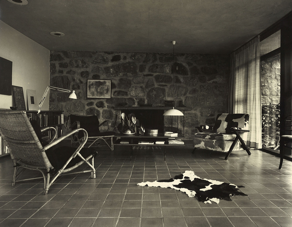 Paul and Marion Rand's quintessential mid-century modern home interior