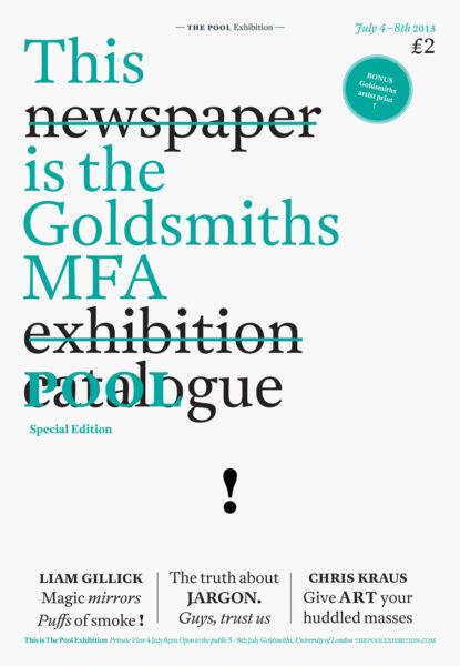 Goldsmith's MFA catalogue