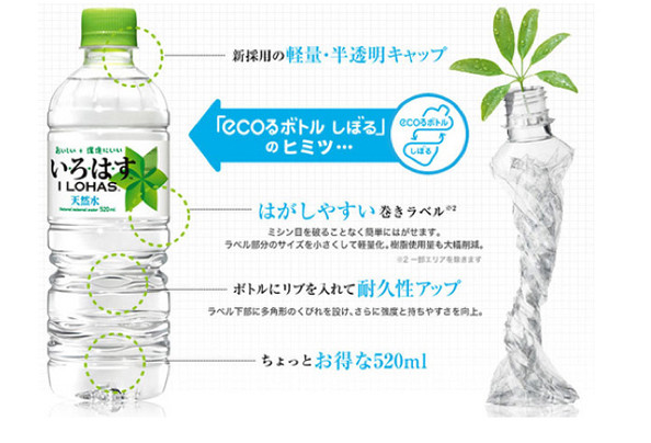 Eco-friendly plastic bottle in Japan (courtesy of fastcompany.com)