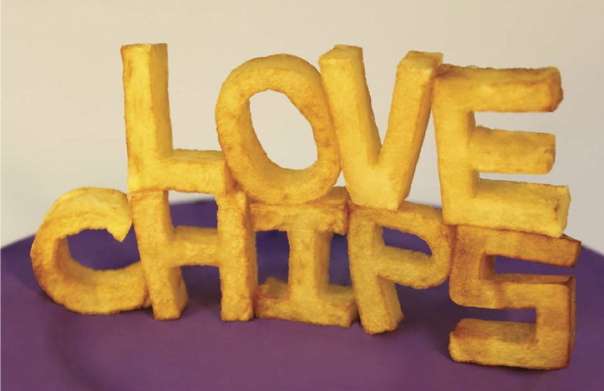 Love Chips Letter Design