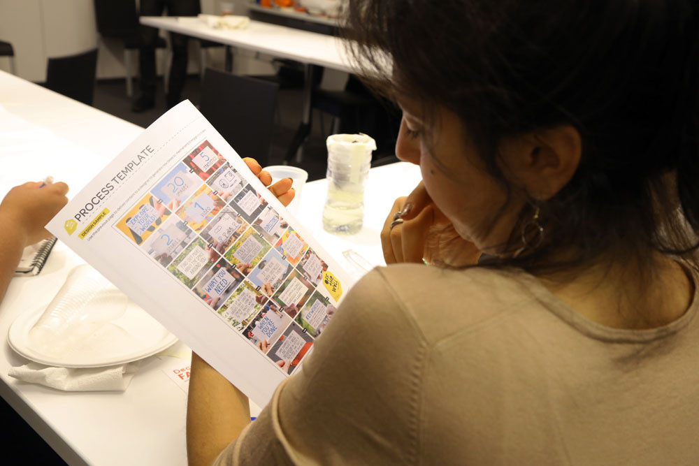 Photos from a recent workshop where educators tested the posters, with help from a few student interns