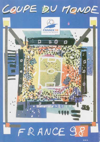 1998 World Cup Poster, France
