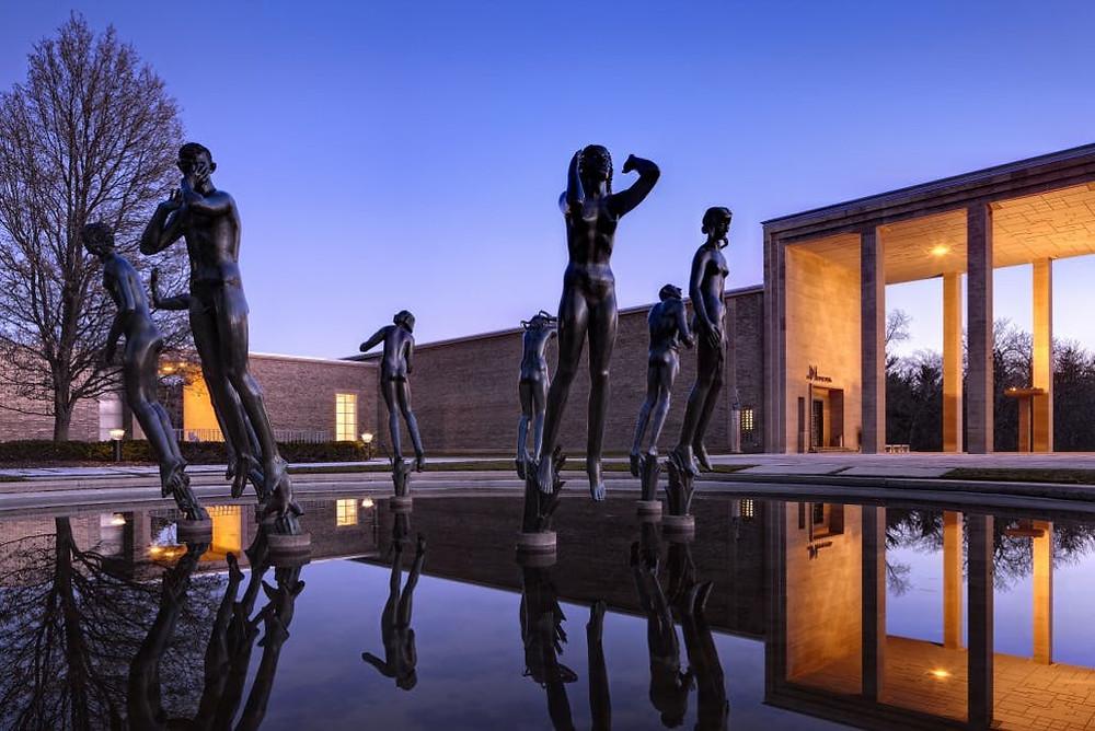 Orpheus Fountain at Cranbrook Art Museum