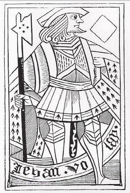 WOODBLOCK PLAYING CARD, C. 1400