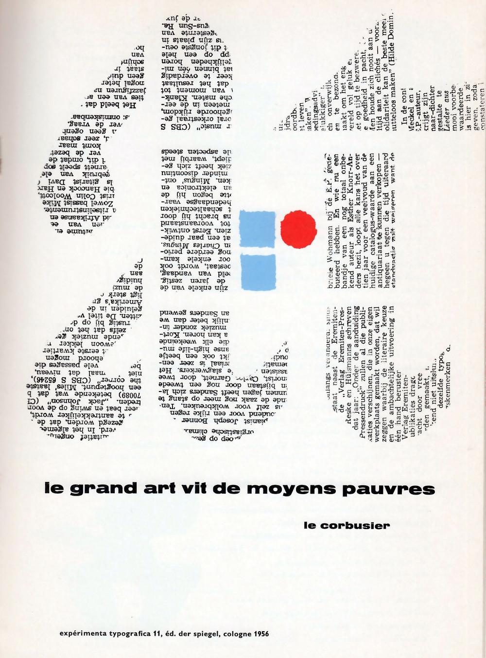 Expérimenta Typografica 11, 1956.