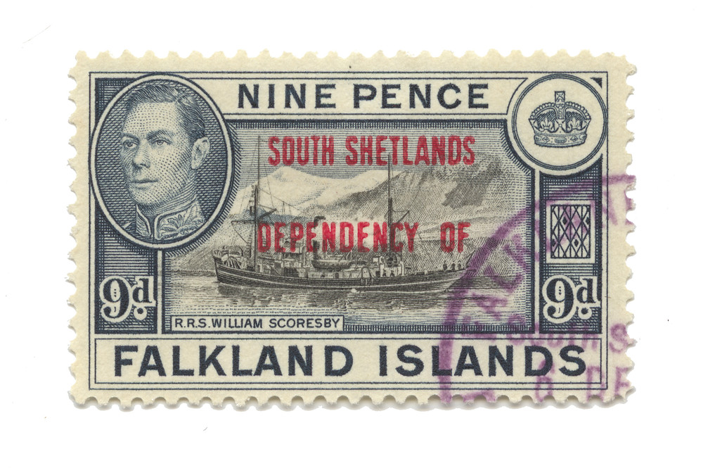 forgotten nations and their postage stamp design  -falkland islands
