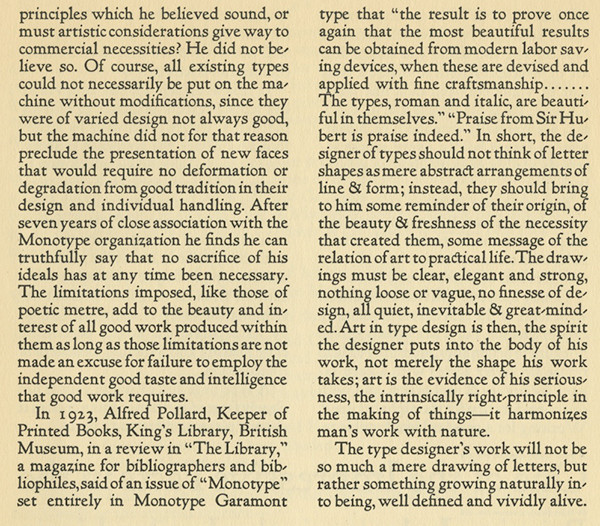 The third page of Goudy's essay on type design