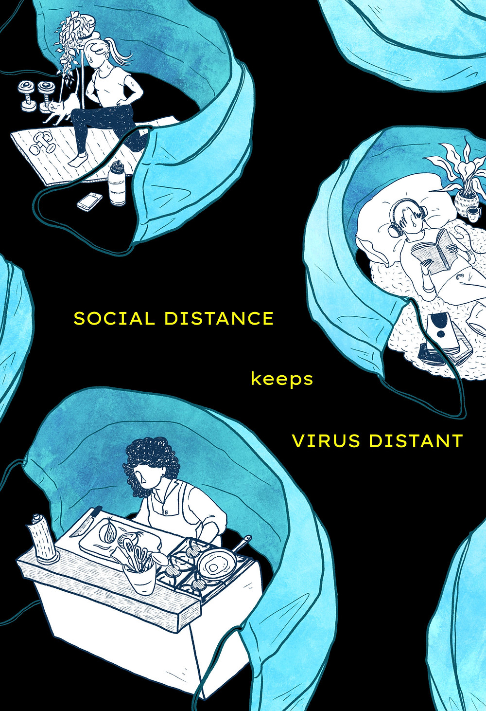 Social Distance keeps Virus distant