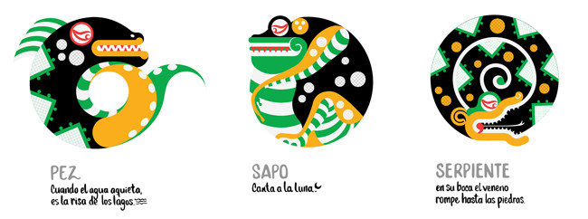 The water animals: Fish, Toad and Serpent