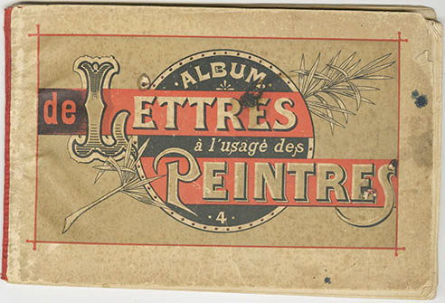 letters for Peintres