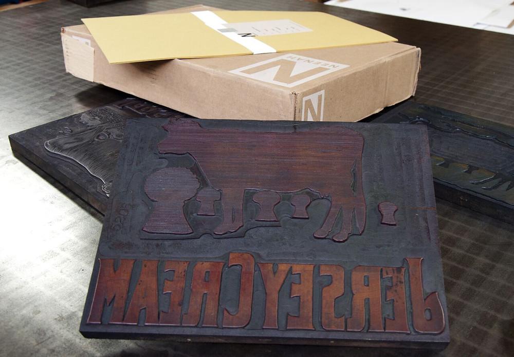 Jersey Cream Printing Wood Block