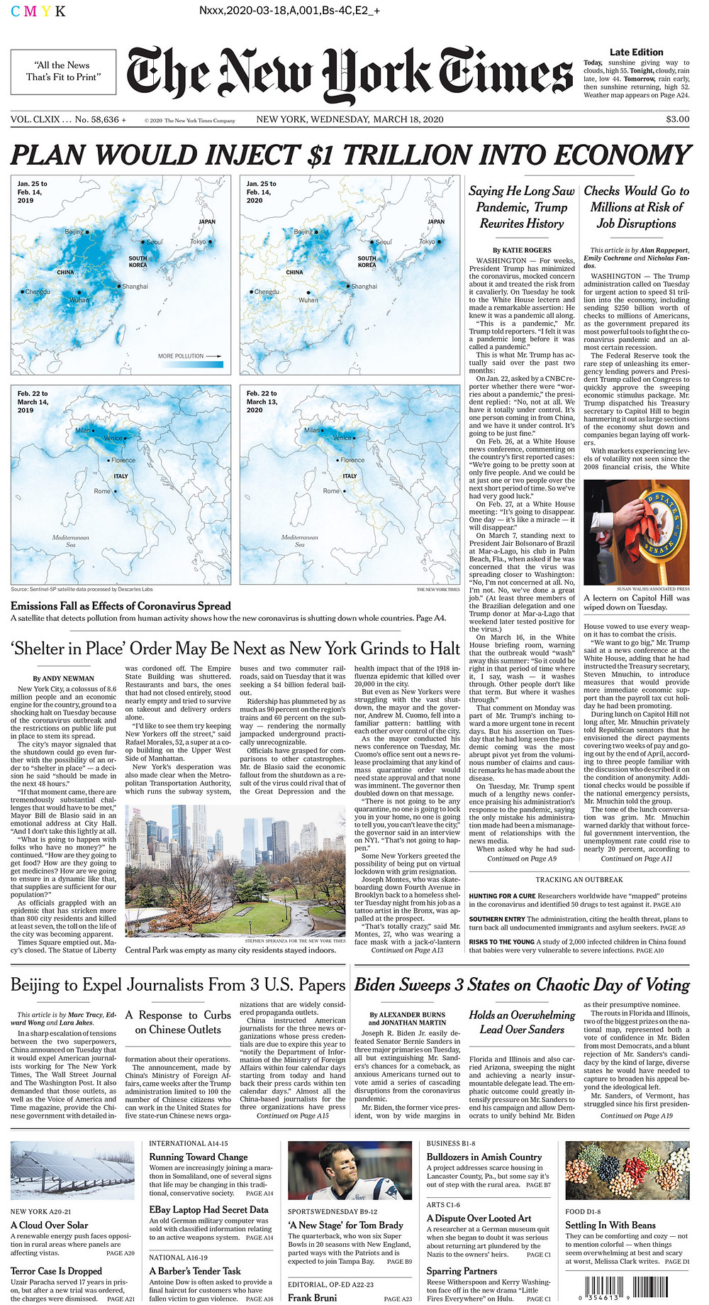 the new york times covid cover