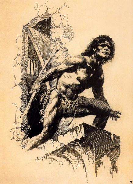 Edgar Rice Burroughs' Tarzan by Frazetta.