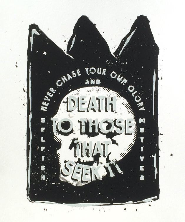 DBCO_DeathBeforeGlory_Print-poster-design