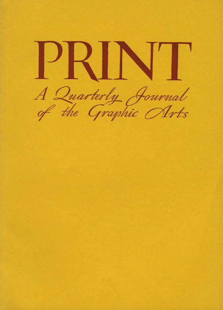 Print Magazine Volume III/Number 3 1943