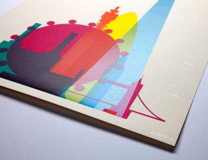 Detail of London screen print. All images courtesy of Yoni Alter