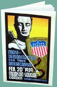mass demonstration for true americanisam. Feb 20, 1939